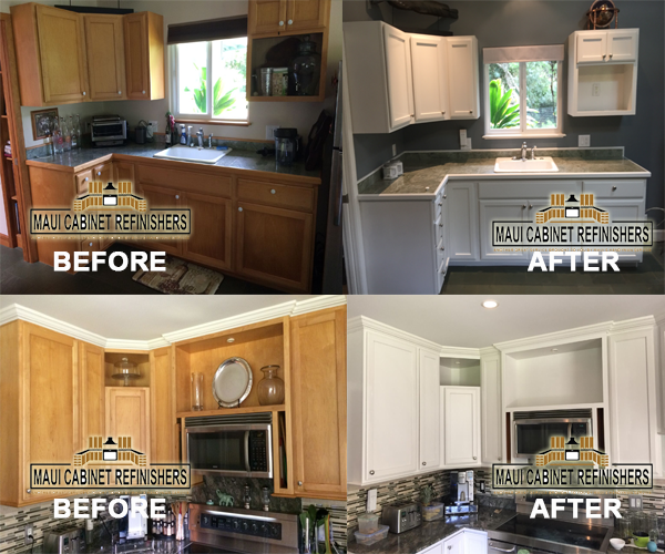 Refinish Paint Stain Kitchen Cabinets We Make Old Look